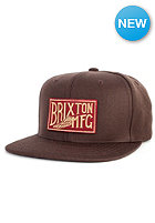 BRIXTON Coventry Snapback Cap brown