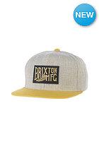 BRIXTON Coventry Snapback Cap light heather grey/gold