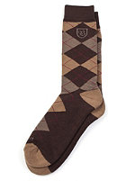 BRIXTON Melvin Socks brown/mustard