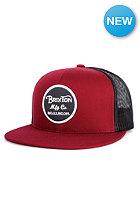 BRIXTON Wheeler Trucker Cap burgundy/charcoal
