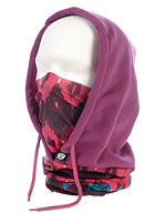 BUFF Polar Fleece Buff Hooded Neckwarmer maihai / amaranth