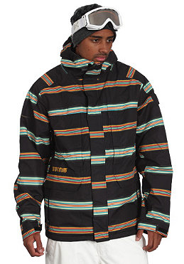 BURTON Arctic Jacket 2011 true black bandwidth stripes