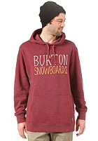 BURTON Battery Hooded Sweat HEATHER CRIMSON