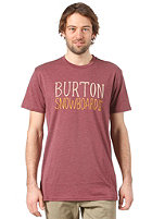 BURTON Battery S/S T-Shirt HEATHER CRIMSON