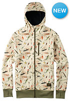 BURTON Bonded Hooded Sweat fishing lure print
