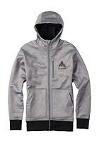 BURTON Bonded Hooded Zip Sweat monument heather