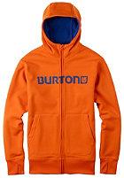 BURTON Bonded Hooded Zip Sweat red orange