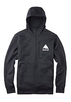 BURTON Bonded Hooded Zip Sweat true black