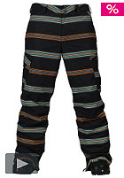 BURTON Cargo Pant 2011 true black bandwidth stripes