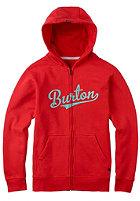 BURTON Kids Allstar Hooded Zip Sweat fiery red