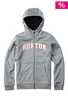 BURTON Kids Bonded Hooded Zip Sweat monument heather