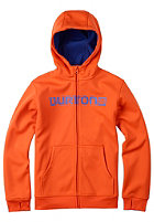 BURTON Kids Bonded Hooded Zip Sweat red orange