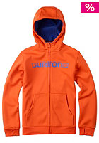 BURTON Kids Bonded Hooded Zip Sweat red orange