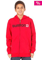 BURTON KIDS/ Boys Logo Horizontal Hooded Zip Sweat 2012 cardinal