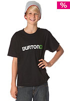 BURTON KIDS/ Boys Logo Horizontal S/S T-Shirt 2012 true black