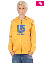 BURTON KIDS/ Boys Logo Vert FZ Hooded Sweat heather saffron