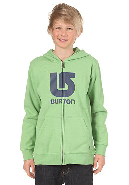 BURTON KIDS/ Boys Logo Vertical Hooded Zip Sweat heather sweet leaf