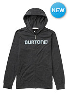 BURTON Kids CST Maxwell FZ Hooded Zip Sweat heather true black