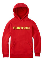 BURTON Kids Logo Horizontal Hooded Sweat fiery red