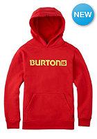 BURTON Kids Logo Horizontal Hooded Sweat fiery red