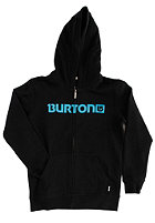 BURTON Kids Logo Horizontal Hooded Zip Sweat true black