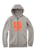 BURTON Kids Logo Vert Hooded Zip Sweat gray heather