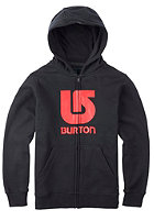 BURTON Kids Logo Vert Hooded Zip Sweat true black