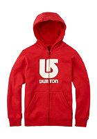 BURTON Kids Logo Vertical Hooded Zip Sweat fiery red