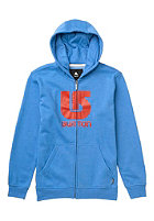 BURTON Kids Logo Vertical Hooded Zip Sweat heather cove