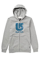BURTON Kids Logo Vertical Hooded Zip Sweat heather grey