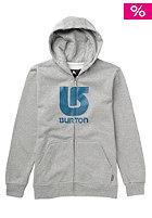 BURTON Kids Logo Vertical Hooded Zip Sweat heather grey