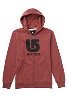 BURTON Kids Logo Vertical Hooded Zip Sweat heather oxblood