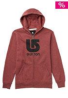 BURTON Kids Logo Vertical Hooded Zip Sweat heather oxblood