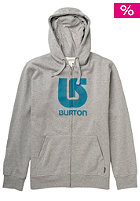 BURTON Logo Horizontal Hooded Zip Sweat heather grey