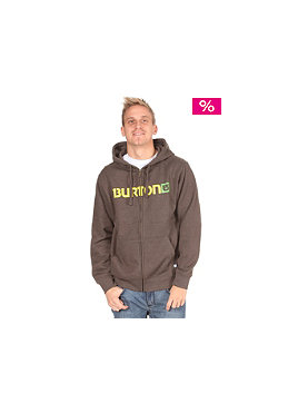 BURTON Logo Horizontal Hooded Zip Sweat heather mocha