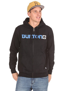 BURTON Logo Horizontal Hooded Zip Sweat true black