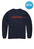 BURTON Logo Horizontal Longsleeve eclipse heather