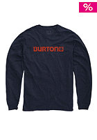 BURTON Logo Horizontal Longsleeve eclipse heather