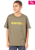 BURTON Logo Horizontal S/S T-Shirt 2012 military green