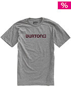 BURTON Logo Horizontal S/S T-Shirt heather grey