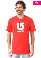 BURTON Logo Vertical fiery red