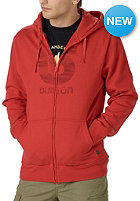 BURTON Logo Vertical fiery red