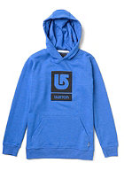 BURTON Logo Vertical Hooded Sweat HEATHER COBALT BLUE