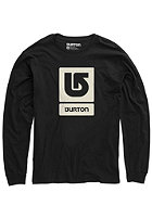 BURTON Logo Vertical Longsleeve true black