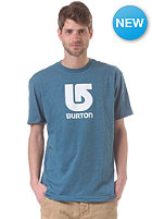 BURTON Logo Vertical S/S T-Shirt heather cerulean