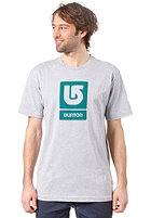 BURTON Logo Vertical S/S T-Shirt HEATHER GREY