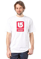 BURTON Logo Vertical S/S T-Shirt STOUT WHITE