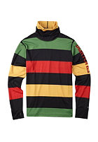 BURTON Midwight Long Neck Shirt pop stripe rasta