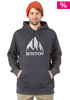 BURTON Rec Classic Mountain Hooded Sweat HEATHER ECLIPSE