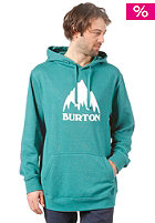 BURTON Rec Classic Mountain Hooded Sweat HEATHER TIDAL BORE